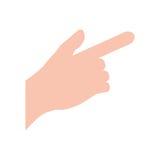 Hand touching something. Icon  illustration graphic design Stock Images