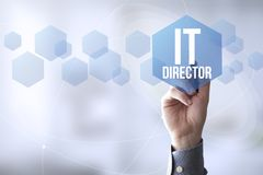 Connections pen touch it director Royalty Free Stock Photography
