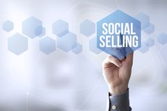 Connections pen touch social selling Stock Image