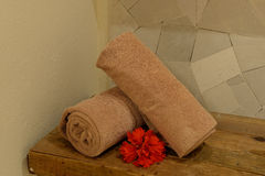 Hand towels in a health spa Royalty Free Stock Photo