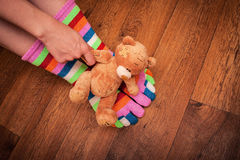 Hand with a toy Royalty Free Stock Photos