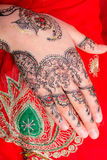 Hand with traditional indian ornament Royalty Free Stock Photography