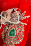 Hand with traditional indian ornament Royalty Free Stock Images