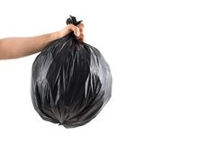 Hand with trash bag Royalty Free Stock Photo