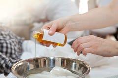 Hand treatment Stock Photo