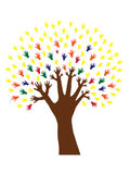 Hand tree. Symbol of diversity vector illustration