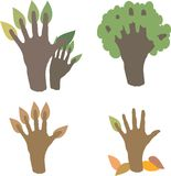 Hand tree Stock Photography
