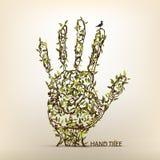Hand tree art Stock Photo