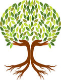 Hand tree logo Stock Photo