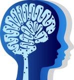 Kids brain logo royalty free illustration