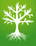 Hand tree sign. Illustration of hand tree sign Royalty Free Stock Images