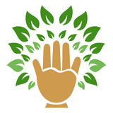 Hand tree symbol Stock Photo
