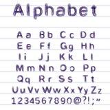Hand-trekkend alfabet - vectorillustratie royalty-vrije illustratie