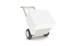 Hand Truck. With Large Box Stock Image