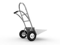 Hand truck with the box Royalty Free Stock Image