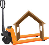 Hand truck forklift Stock Photos