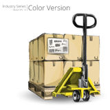 Hand Truck and Pallet. Stock Image