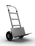 Hand truck on white background Stock Photography