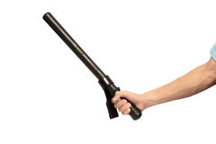 Hand and truncheon Royalty Free Stock Photography