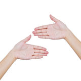 Hand trying to touch together Stock Photo