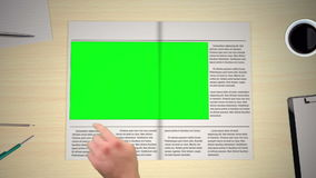 Hand turning pages of newspaper. With copyspaces stock video