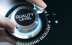 Quality Improvement and Management System. stock photos