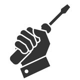 Hand turnscrew icon Stock Photography