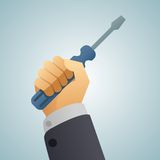 Hand turnscrew icon Royalty Free Stock Photos