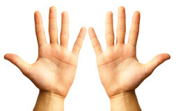 Hand twee Royalty-vrije Stock Foto
