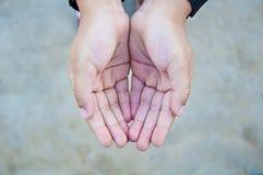 Hand twee van kind Stock Fotografie