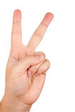 Hand with two fingers Stock Image