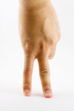 Hand and two fingers Stock Images