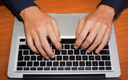 Hand Typing Royalty Free Stock Photo