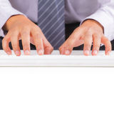 Hand typing Stock Photography