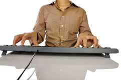 Hand Typing Keyboard Royalty Free Stock Image