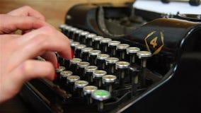 Hand Typing on Typewriter. stock video