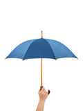 Hand with umbrella royalty free stock images