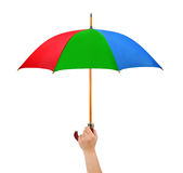 Hand with umbrella Royalty Free Stock Photo