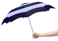 Hand with umbrella Royalty Free Stock Image