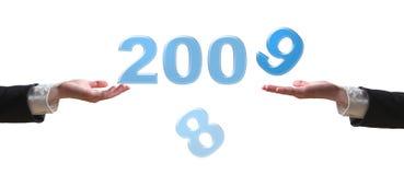 Hand und 2009 Stockfoto
