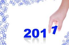 Hand und 2011 Lizenzfreies Stockbild