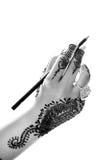 Hand und Bleistift Lizenzfreie Stockfotos