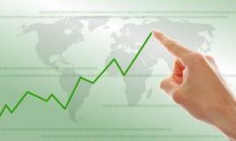 Hand und Diagramm Lizenzfreies Stockfoto