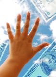 Hand und Dollar Lizenzfreies Stockfoto