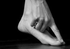 Hand und Fuß lizenzfreie stockbilder