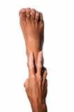 Hand und Fuß Stockbild