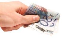 Hand und Geld Lizenzfreies Stockfoto