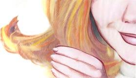 Hand und Gesicht lizenzfreie abbildung