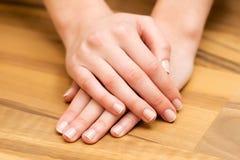 Hand-und Nagelpflege Stockfoto
