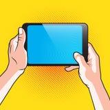 Hand-und Noten-Tablet Stockbilder